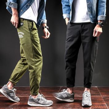 Stylish Cotton Men Casual Pants Pencil Pants [41312288787]