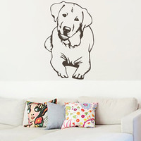 Labrador Retriever Dog Vinyl Decals Wall Sticker Art Design Living Room Modern Bedroom Nice Picture Home Decor Hall  Interior ki823