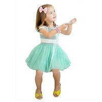 Baby Girls Summer Dress Striped Kids Birthday Dress Princess Costume for Children Clothing