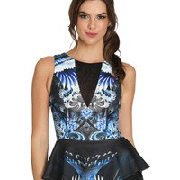 Printed Peplum Top | Shop CLEARANCE at Arden B