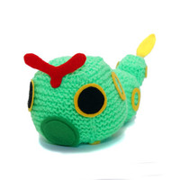 To-Be-Made Caterpie (Standard or Shiny!) Pokemon Plush Cube