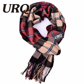 tartan Plaid Winter Scarf men Warm tassel knitted scarves for men Oblong Fringe Unisex Man Scarf Bufanda 2016 New high quality