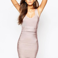 WOW Couture Bandage Double Strap Bodycon Dress