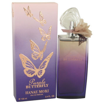 Hanae Mori Purple Butterfly By Hanae Mori Eau De Parfum Spray 3.4 Oz