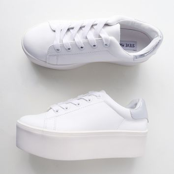 Palmer White Leather Flatform Sneakers