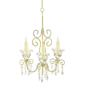 Shabby Chic Scroll Chandelier