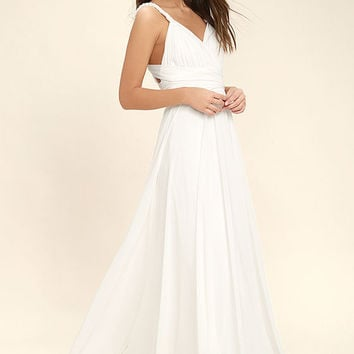 Carte Blanche White Maxi Dress