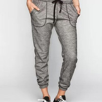 Full Tilt Marled French Terry Womens Jogger Pants Black/White In Sizes = 5617145345