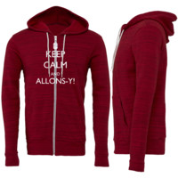 Keep Calm and Allons-y! Zipper Hoodie
