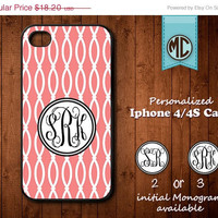 20% OFF SALE Personalized iPhone 4 Case - Plastic iPhone case - Rubber Silicone iPhone case - Monogram iPhone case - iPhone 4s case - MC076