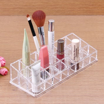 New Makeup Clear Acrylic Cosmetic Holder Organizer or acrylic makeup organizer Brush Storage Box