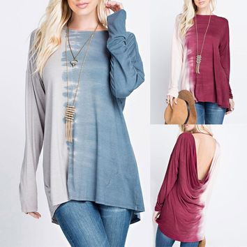 Elegant Long Sleeve Loose Casual Top
