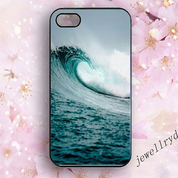 Sea Waves iPhone 5/5c case,Ocean iPhone 4/4s,Samsung Galaxy S3/S4/S5 case,blue wave iphone 5s case,The beautiful natural Marine landscape