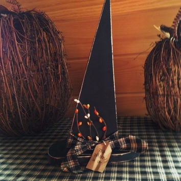 Primitive Wooden Witch Hat, Halloween Decor, Witch Decor, Fall Home Decor
