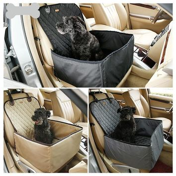 TECHOME Special Car Folding Waterproof Dogs Cats Holder Pet Car Carriers Storage Bags Mats Baskets Comfortable Dog Cat Pet Seats