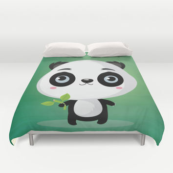 Panda Duvet Cover by Maria Jose Da Luz