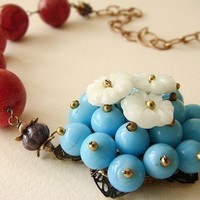 Sunny Skies Ahead Necklaces turquoise beaded by soradesigns