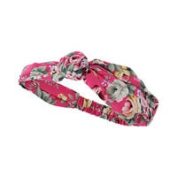 PINK FLORAL KNOT HEADBAND
