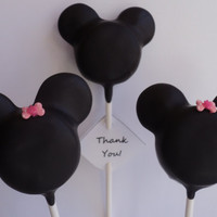1 MICKEY or MINNIE MOUSE Cake Pops    Only 250 by CakeWorksbyJen