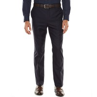 Marc Anthony Slim-Fit Herringbone Navy Suit Pants