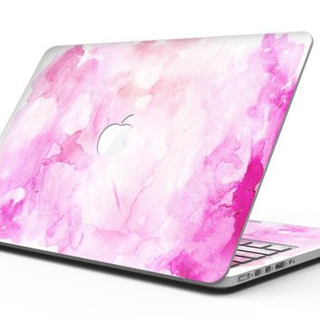 Pink v4 Absorbed Watercolor Texture - MacBook Pro with Retina Display Full-Coverage Skin Kit