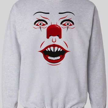 PENNYWISE KILLER CLOWN FACE WINTER PULL OVER SWEATER
