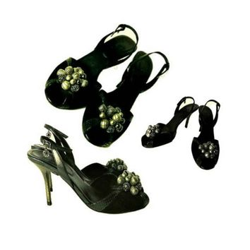 Women's Shoes, high heels, pumps, stilettos, heels, sandals, stiletto heels, beads, Cole Haan