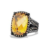 David Yurman - Chatelaine Ring with Blue Topaz and Grey Diamonds - Saks Fifth Avenue Mobile