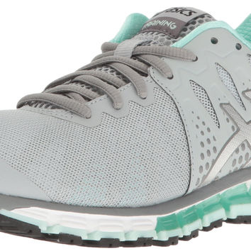ASICS Women's Gel-Quantum 180 Tr Running Shoe Mid Grey/Silver/Bay 9 B(M) US '