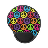 Customizable Pop Peace Gel Mouse Pad from Zazzle.com