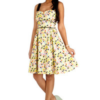 Bea & Dot Americana Long Tank top (2 thick straps) A-line On a Barrel Roll Dress in Geometric