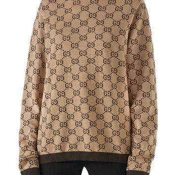 Gucci Intarsia Logo Wool Sweater | Nordstrom