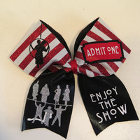 3 inch AHS freak show cheer bow