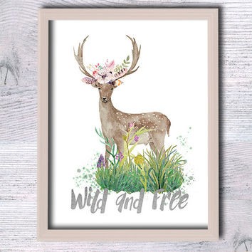 Custom quote print Wild and free inspirational quote Custom quote real foil poster Home decoration Gold custom text decor Gift idea G121