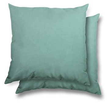 Stratford Home 17x17 Indoor/ Outdoor Toss Pillows, Sunbrella Canvas Fabric, Set of 2 (Glacier)