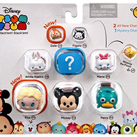 "Disney Tsum Tsum Series 1 Dale, Figaro, Pooh, White Rabbit, Marie, Elsa, Mickey & Perry 1"" Minifigure 9-Pack"