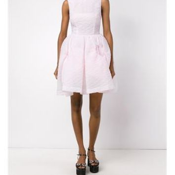 SIMONE ROCHA   Sleeveless Crepe Mini Dress   brownsfashion.com   The Finest Edit of Luxury Fashion   Clothes, Shoes, Bags and Accessories for Men & Women