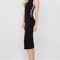 Up All Night Ribbed Bodycon Dress