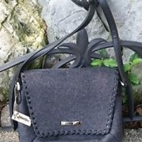 St. John's Bay Charcoal Grey Wool shoulder bag purse