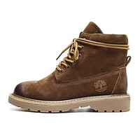 Timberland Autumn Winter Trending Women Stylish Boots Shoes Waterproof Martin Boots Coffee I12999-1