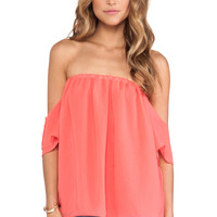 T-Bags LosAngeles Off The Shoulder Top in Pink