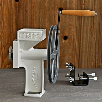 Hand Crank Grain Mill & Clamp