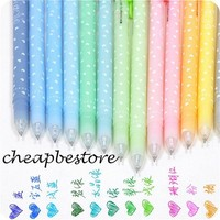 12pcs Gel Pen Set Refills Sketch Drawing 12 Colors 0.5mm Fresh Heart Candy color Pen School Stationery Marker for Kids Gifts