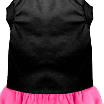 Plain Dress Black With Bright Pink Xxl (18)