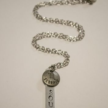 Scorpio Zodiac / Soul Bar Necklace - Berkley's Original