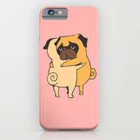 Pug Hugs iPhone & iPod Case by Huebucket