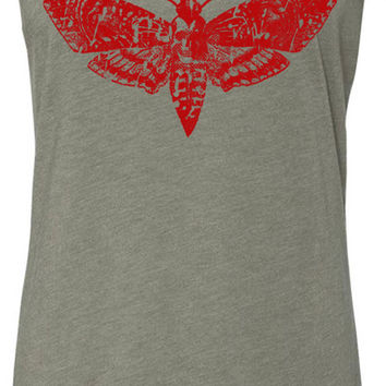 Death Moth (Red) Tri-Blend Racerback Tank-Top