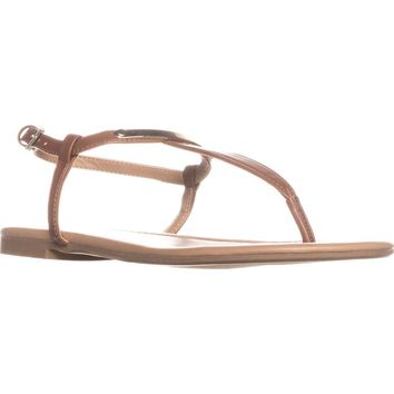 Call It Spring Aareniel Flat Sandals, Cognac, 11 US / 42.5 EU