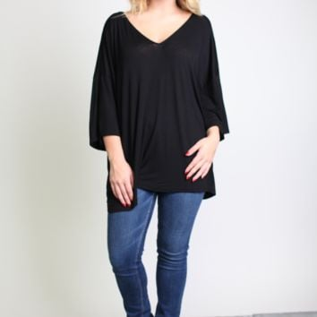 Piko 1988 Bell Sleeve V-Back Top