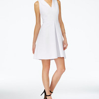 Armani Exchange Fit & Flare Dress - Dresses - Women - Macy's